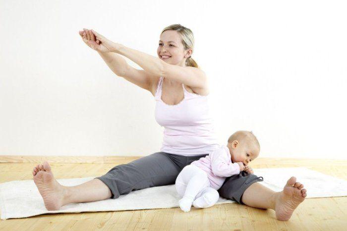 Занятие фитнесом после родов