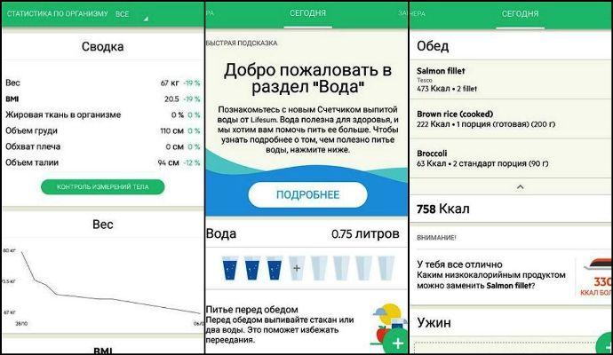 Мобильное приложение для калорий