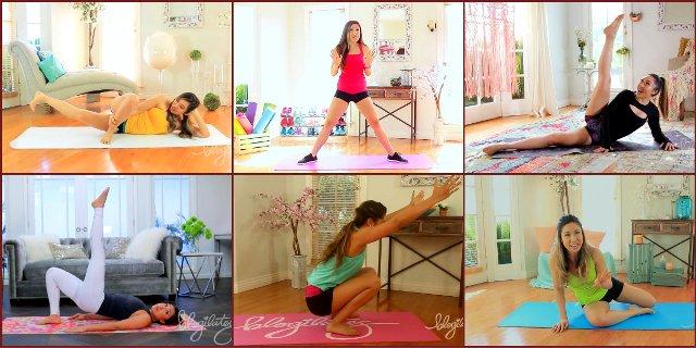 Топ-10 коротких низкоударных тренировок для стройных ног от Blogilates