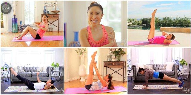 Топ-13 коротких эффективных тренировок для живота от Blogilates