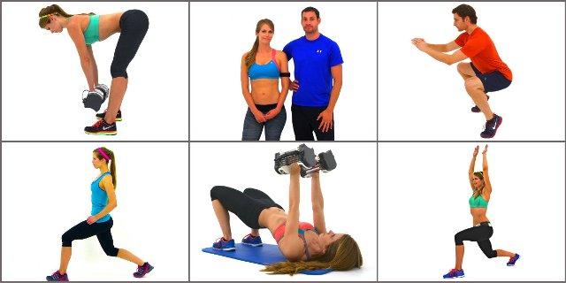15 силовых тренировок с гантелями