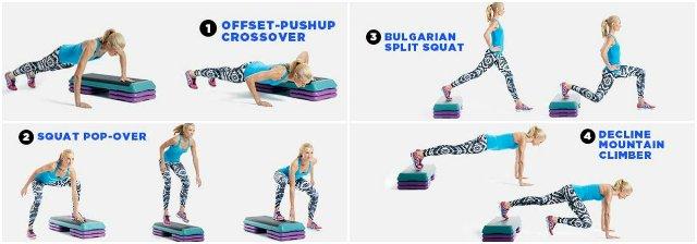 Упражнения со степ-платформой