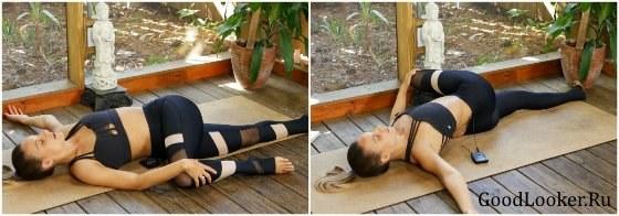 Скручивание для спины набок