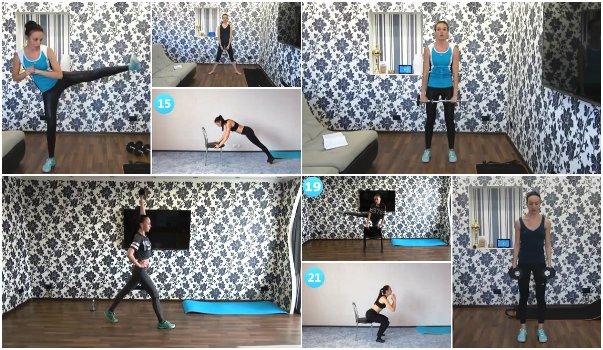 10 интервальных тренировок для похудения без прыжков и бега от Екатерины Кононовой (на русском языке)