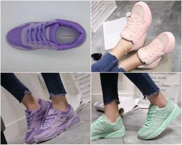 Простые однотонные кроссовки для тренировок