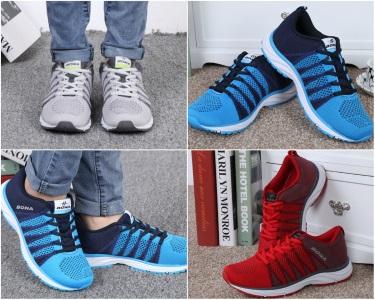 Кроссовки для бега и тренировок Bona с полосками