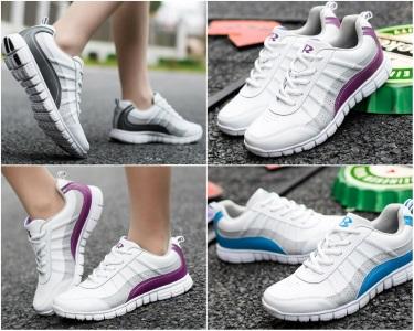 Белые легкие кроссовки Bona