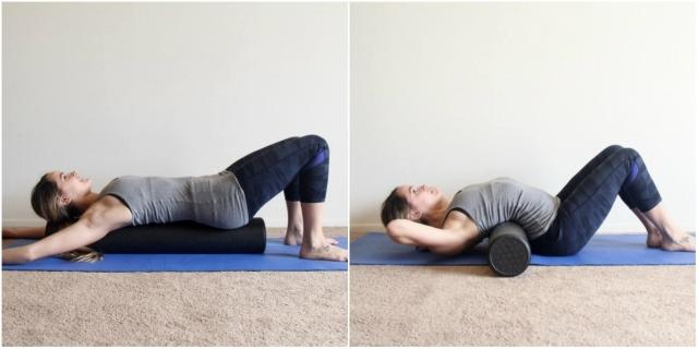 Упражнения с пенным роликом