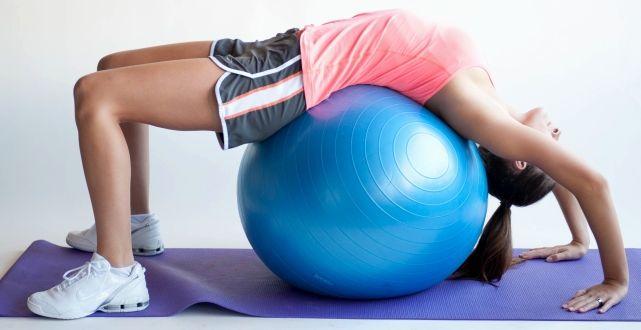 Тренировки с фитболом для похудения