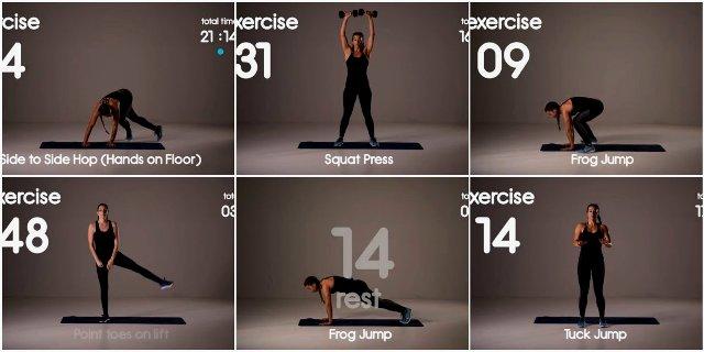15 интервальных тренировок на 20-25 минут от Group HIIT для всего тела