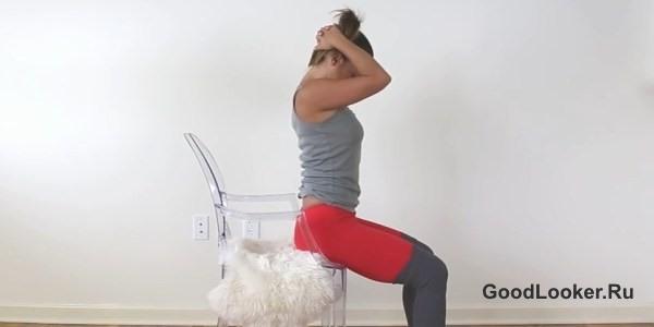 Растягивание шеи и верхней части спины