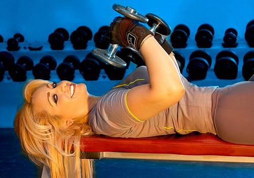 Силовая тренировка для девушек с гантелями