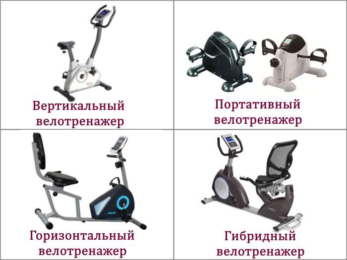 Типы велотренажеров