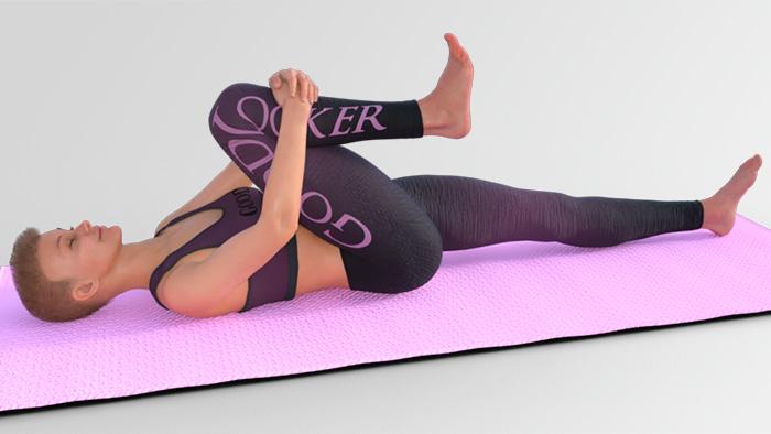 Подтягивание колено к груди