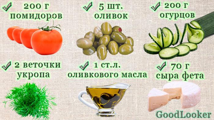 Смузи а-ля греческий салат