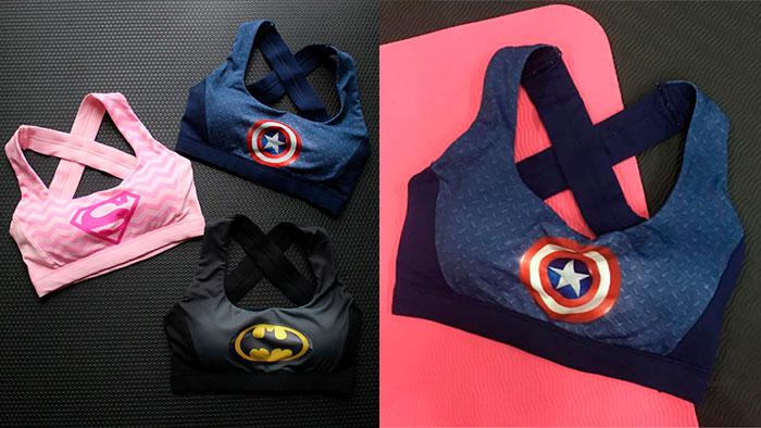 Топ с эмблемой супергероя