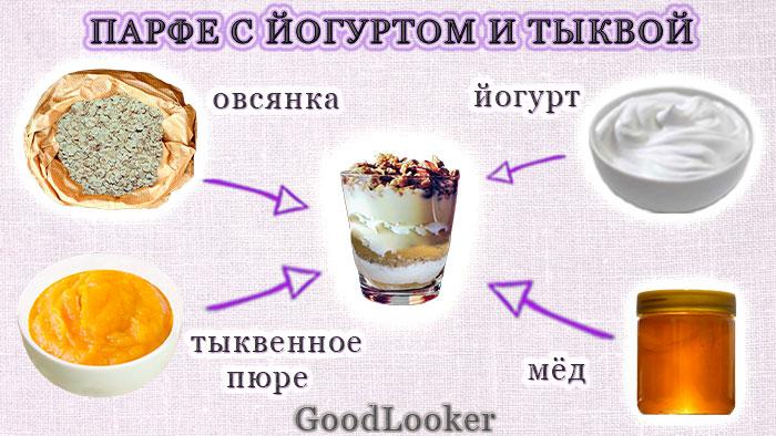 Парфе с йогуртом и тыквой