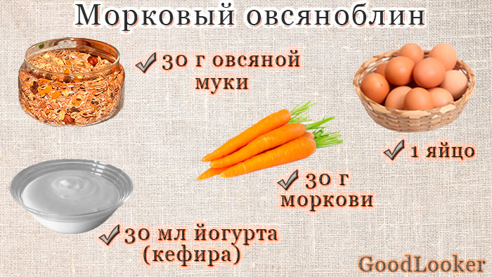 Морковный овсяноблин