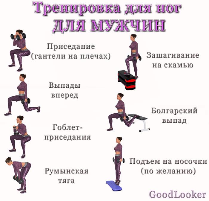Тренировка для ног для мужчин