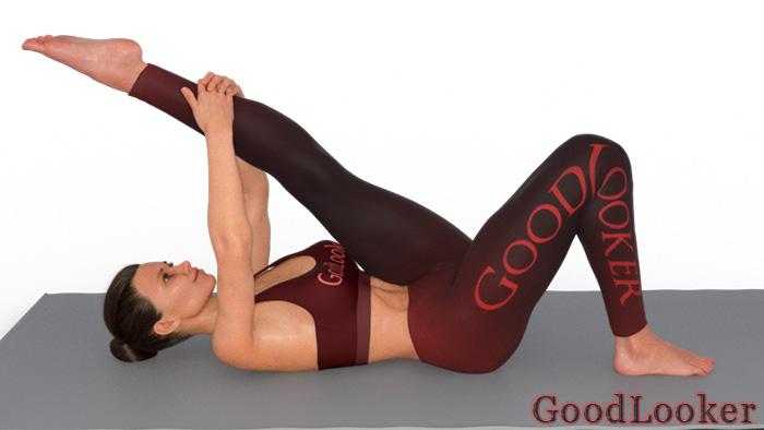 Подъем ноги к груди