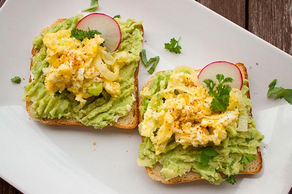 Диетические бутерброды с авокадо