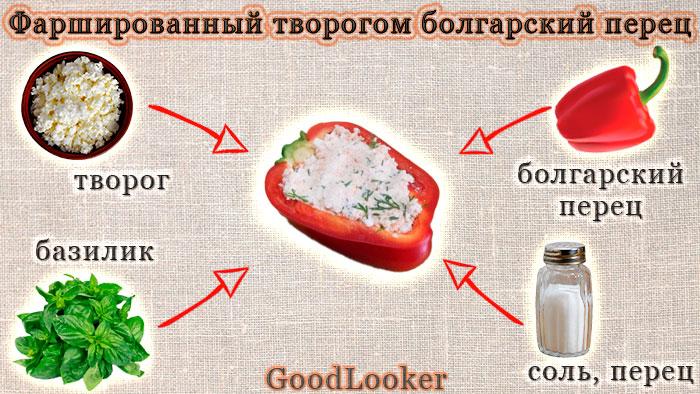 Фаршированный творогом болгарский перец