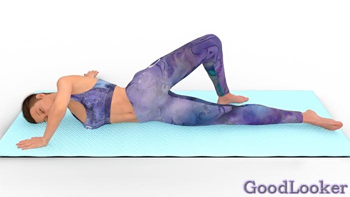 Скручивание лежа на боку