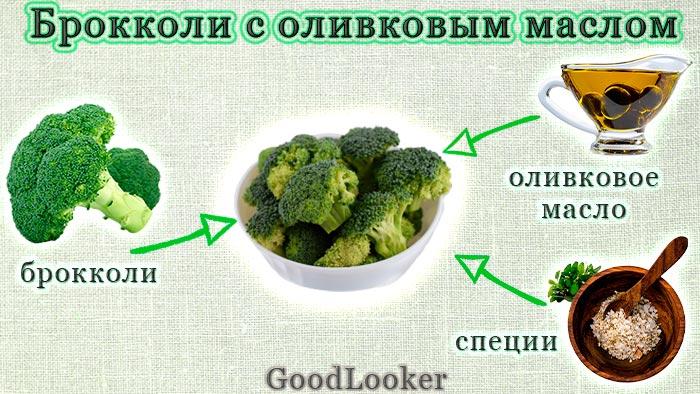 Брокколи с оливковым маслом