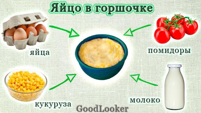 Яйцо в горшочке