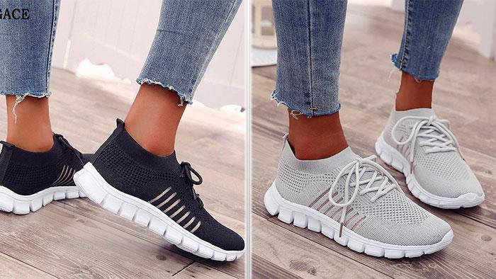 Кроссовки с декоративной шнуровкой