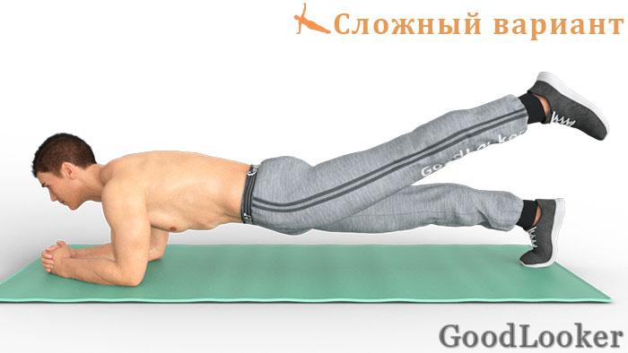 Планка на предплечьях на одной ноге
