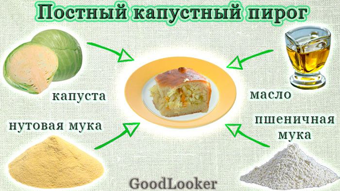 Постный капустный пирог