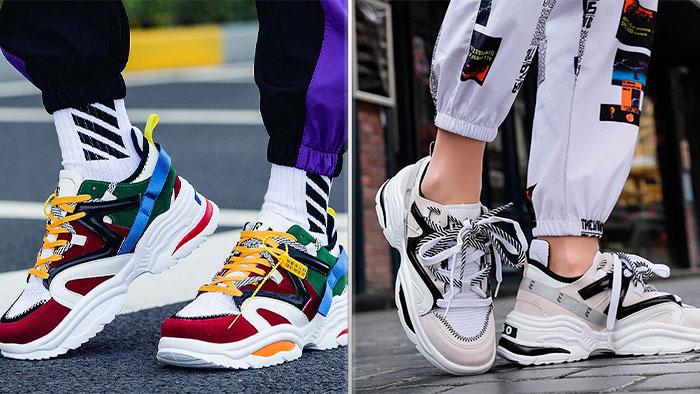 Яркие городские кроссовки