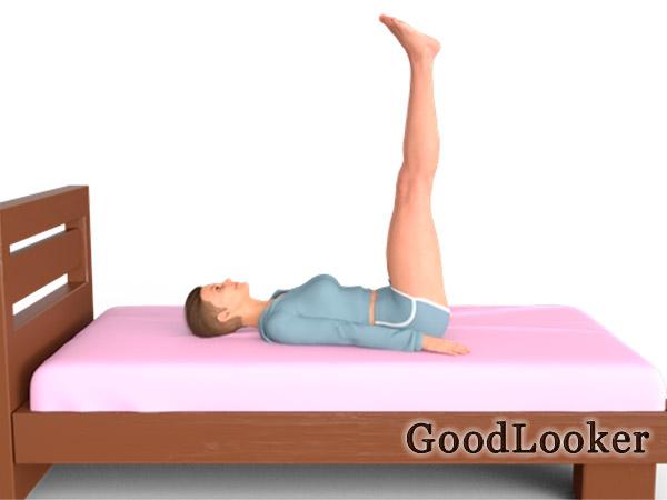 Поднятые ноги вверх лежа на спине