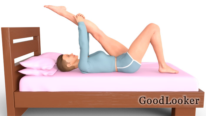 Подтягивание ноги к груди