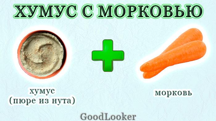 Морковь с хумусом