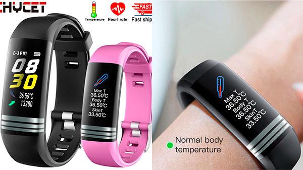 Фитнес-браслет с термометром