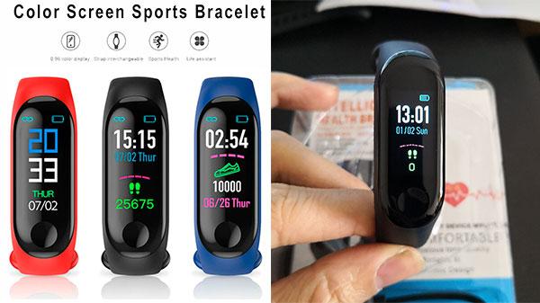 Недорогой фитнес-браслет с сенсорным экраном