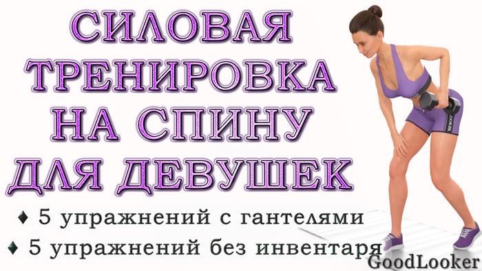 Силовая тренировка на спину для девушек: 10 упражнений + готовый план