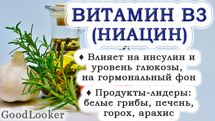 Витамин B3 (PP, ниацин)