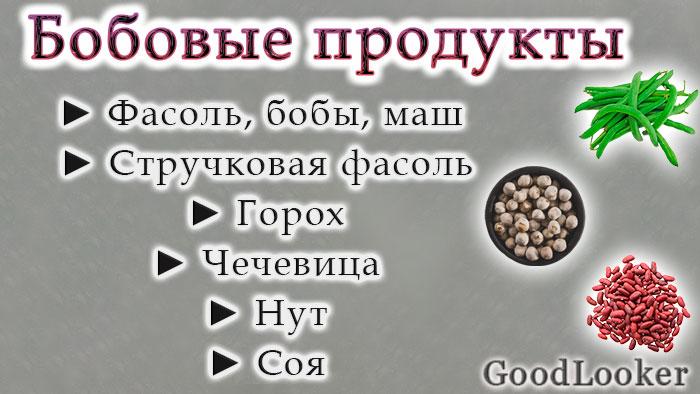 Бобовые продукты на ПП
