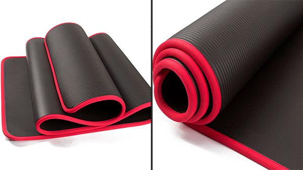 Двухсторонний резиновый коврик с окантовкой