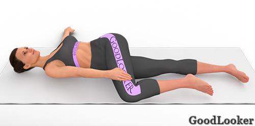 Скручивания спины лежа
