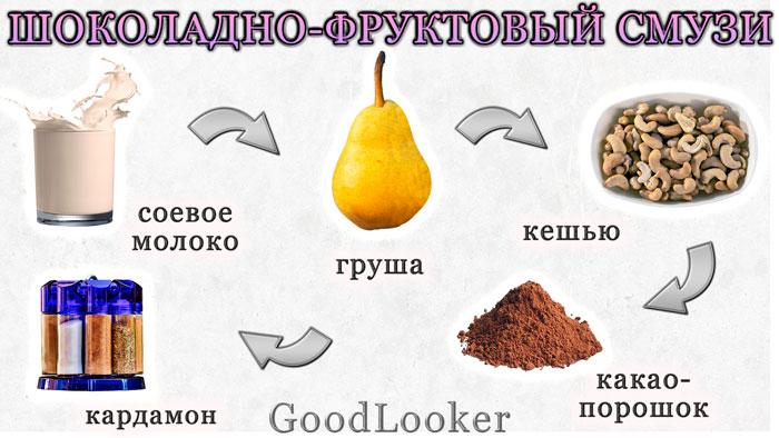 Шоколадно-фруктовый смузи