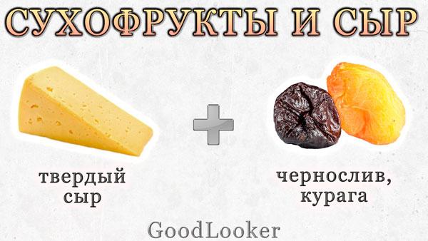 Сухофрукты с сыром
