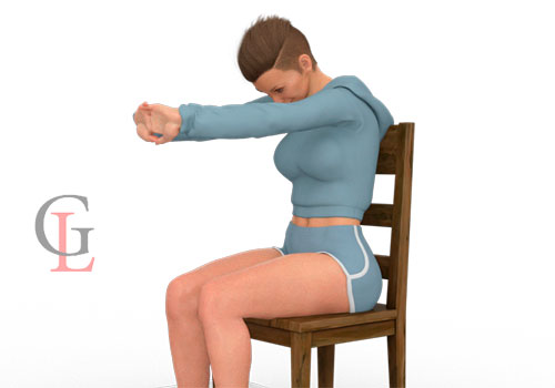 Растяжка для спины на стуле (в офисе или дома)