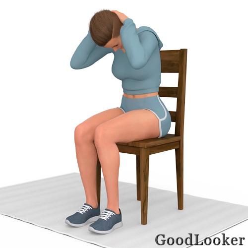 Скручивание сидя