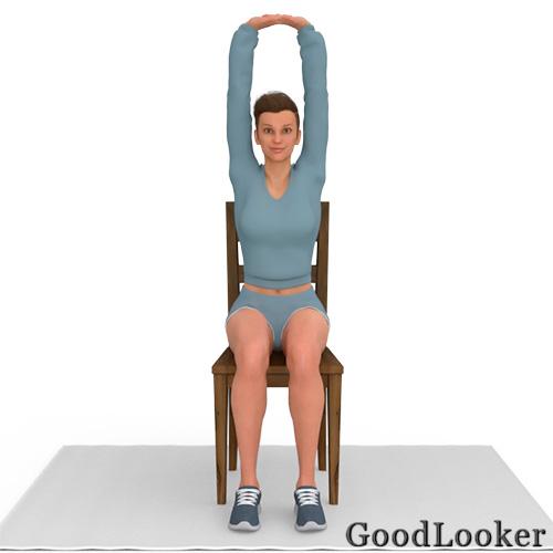 Потягивание сидя на стуле