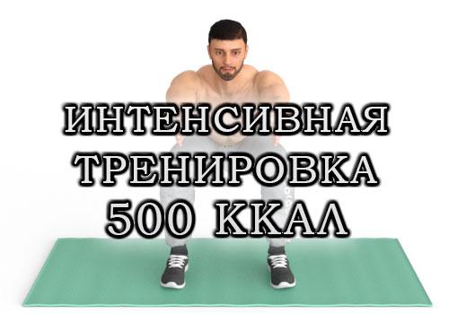 Интенсивная тренировка на жиросжигание на 500 ккал для мужчин и женщин