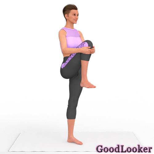 Подъем колена